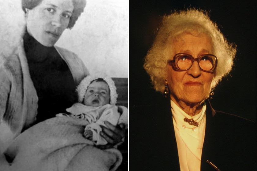 Milvina Dean édesanyjával 2 hónaposan - és idős korában.