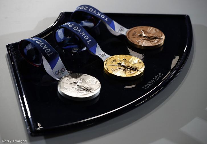 A tokiói olimpiára készült érmek