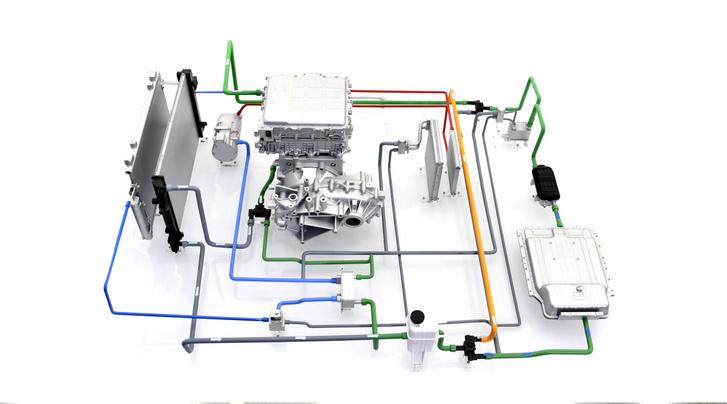 Minden, a hűtésben-fűtésben résztvevő elemet egy rendszerbe foglalnak a motor hűtésétől kezdve az utastér fűtéséig. Utóbbira felhasználhatják a motorban és az akkumulátorban keletkező hőt, amelyek mellett hőszivattyús fűtést is bevetnek