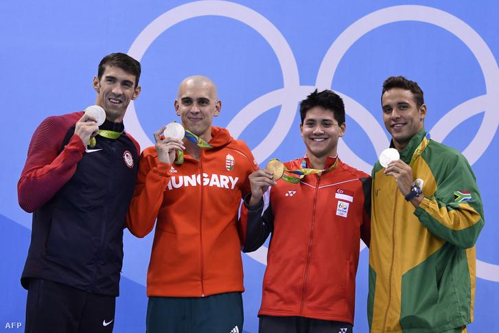 Szingapúr eddigi egyetlen olimpiai bajnoki címe számunkra is emlékezetes maradt: Joseph Schooling (b3) három legendás úszót, köztük Cseh Lászlót utasított maga mögé Rióban
