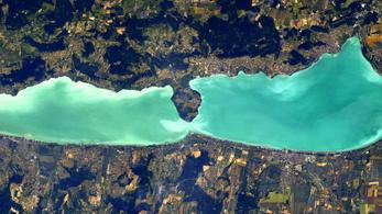 Ilyen a Balaton a Nemzetközi Űrállomásról