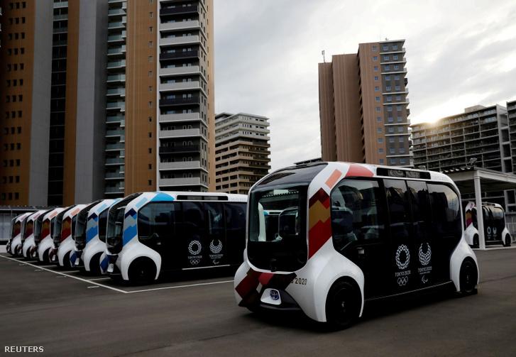 Az olimpiai shuttle buszok