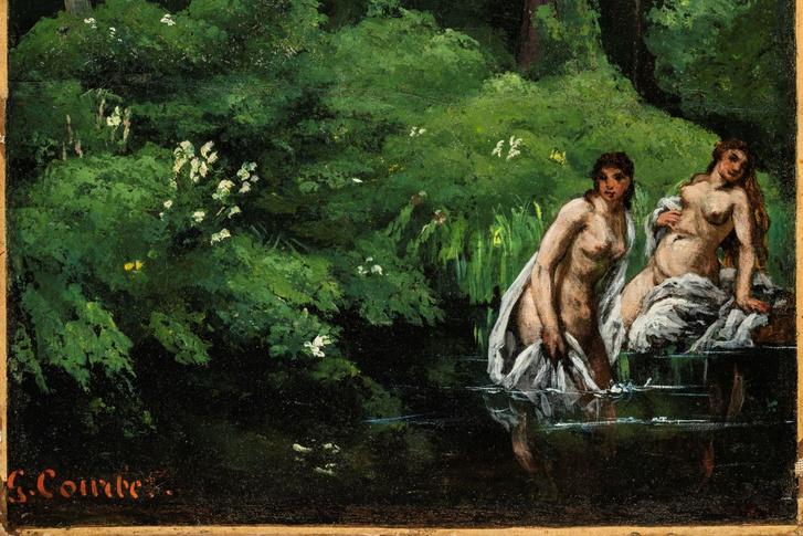 Courbet: Fürdőzők kiskép