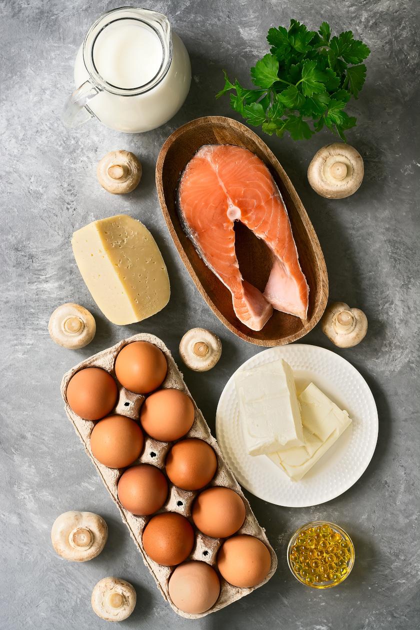 d vitaminban gazdag ételek álló