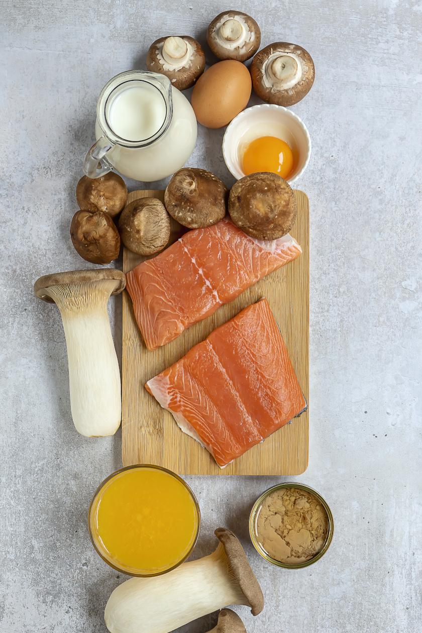 d vitaminos ételek álló