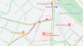 Kigyulladt egy autóbusz Budapesten