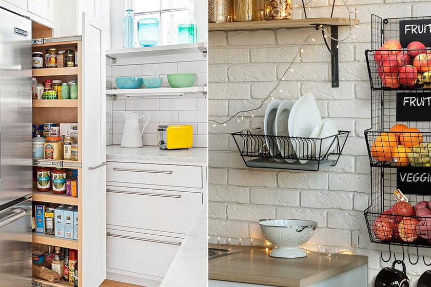 Zseniális konyhai tárolók, amik megduplázzák a pakolóhelyet: nem lesz többé rendetlenség