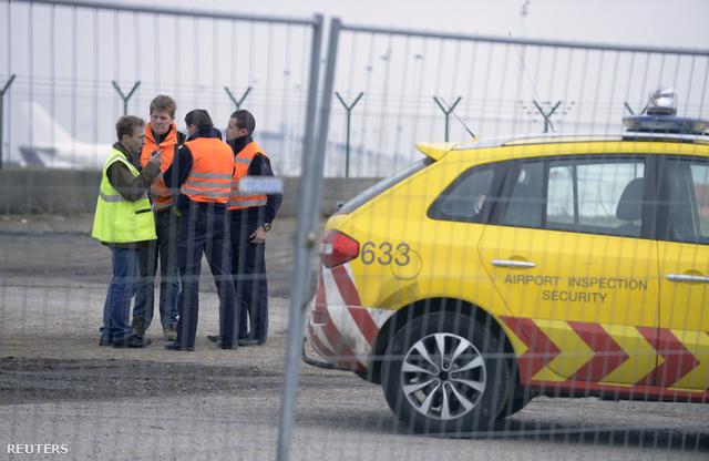 Helyszínelés a a brüsszeli reptéren elkövetett rablás után