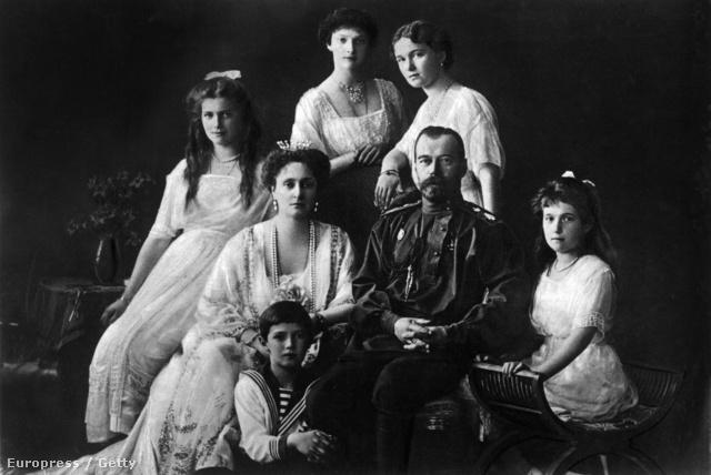 A cári család 1913-ban
