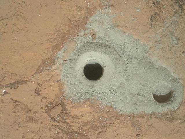 A fúrás nyomai a Marson