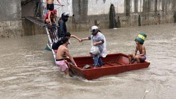 Árad a folyó, tízezrek menekülnek a Fülöp-szigeteken