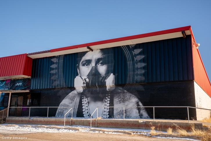 Street art a navahó nemzet területén Arizonában