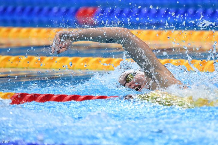 Késely Ajna a női 400m gyors előfutamában