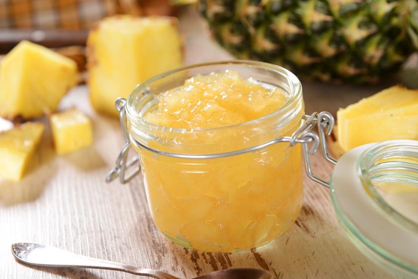 Zamatos ananászlekvár pillanatok alatt: az egyszerű piskótát is feldobja