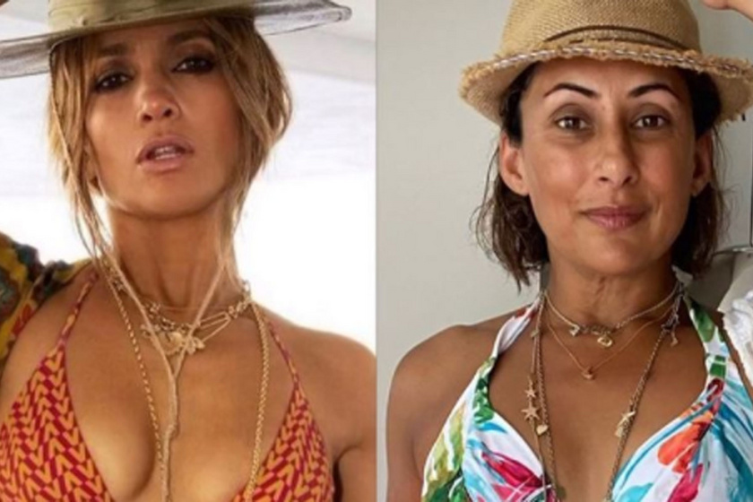 Lemásolta J. Lo bikinis fotóját az 51 éves műsorvezetőnő: a testpozitív üzenetét imádták a rajongók