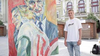 Festmény készült Marco Rossi atyai öleléséről