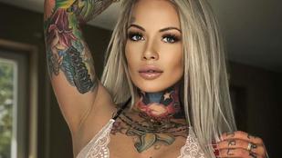 Intim tetoválással indítja be férjét egy német modell, minden porcikáját kivarratta már