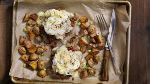 Gombás röszti buggyantott tojással – hétvégi reggelinek tökéletes