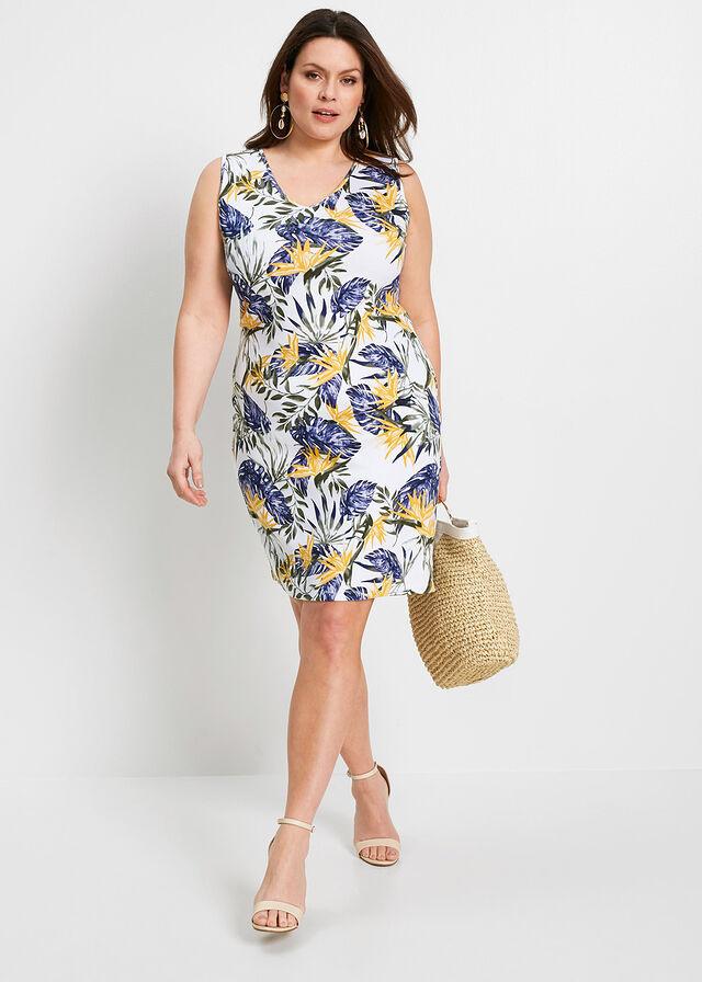 A Bonprix virágmintás darabja követi az alakot, kiemeli a derekat, de nem feszül túlságosan a testre. A nőies ruhát 4499 forintért vásárolhatod meg.