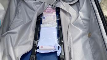 Bőröndben akart átvinni 43 milliót a határon egy ukrán férfi