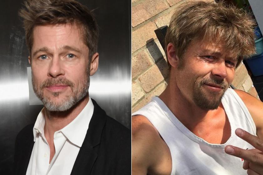 Ezt a férfit mindenki összekeveri Brad Pitt-tel: a hasonmást rendszeresen leállítják az utcán