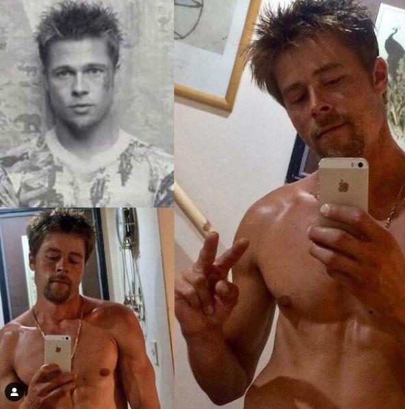 Nathan leginkább a Harcosok klubjából a Brad Pitt által alakított Tyler Durdent idézi ezeken a fotókon.