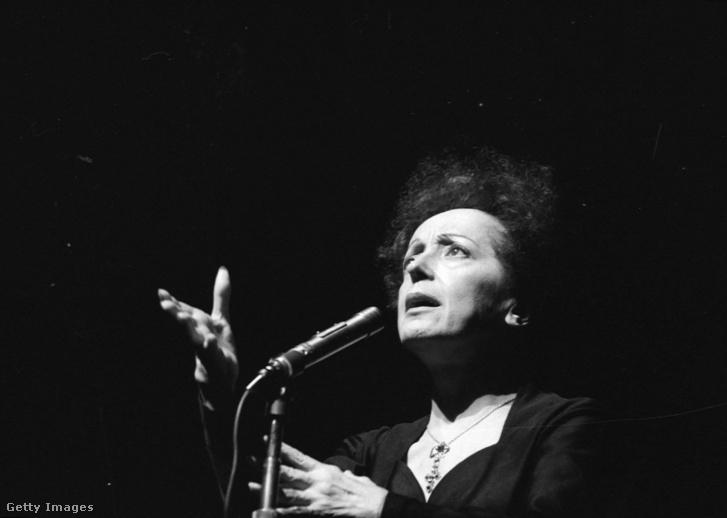 Edith Piaf a párizsi Olympiában 1961-ben