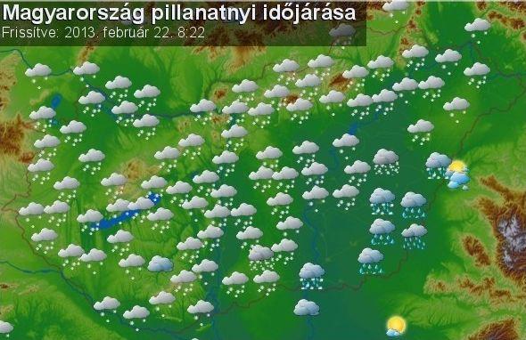 Magyarország pillanatnyi időjárása az időképen