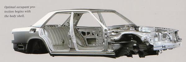 W124 karosszériaváz