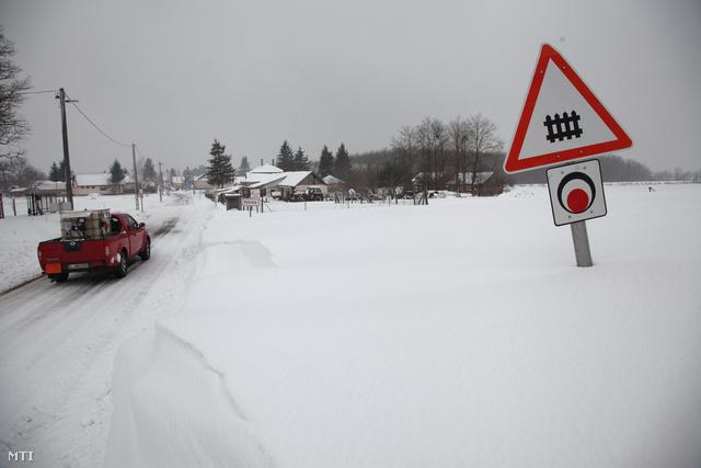 Zalában ekkora hó is volt a héten