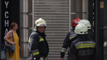 Tűz volt egy V. kerületi mélygarázsban