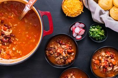 Szaftos chili darált pulykahússal és babbal: könnyed, de tartalmas ebéd