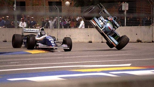 Schumacher és Hill ütközése az 1994-es szezonzárón