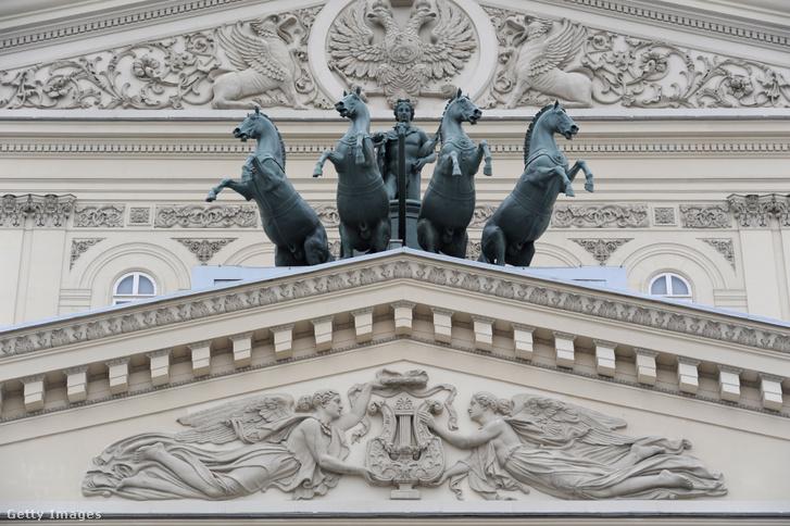 A moszkvai Bolsoj színház homlokzata