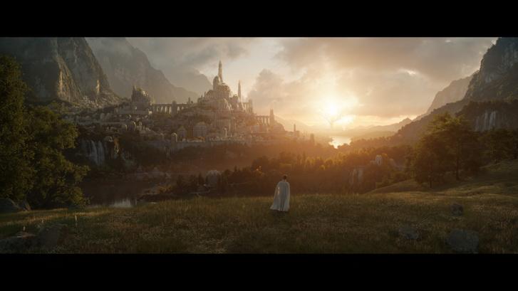 A képen vélhetően Valinor Két fája, Telperion és Laurelin látható Ezellohar dombján