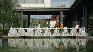 Összecsukható hidat nyomtattak Kínában