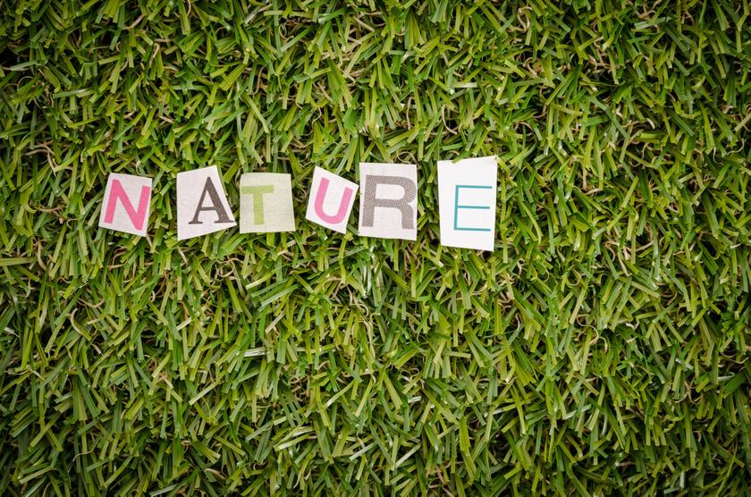 műfű nature felirat