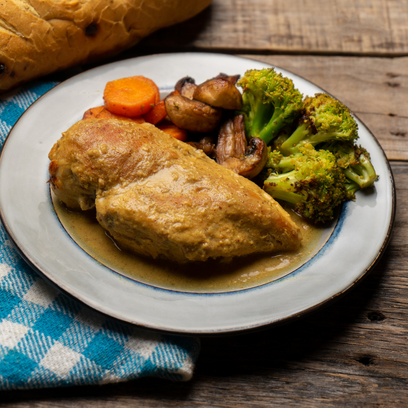 mustaros csirkemell
