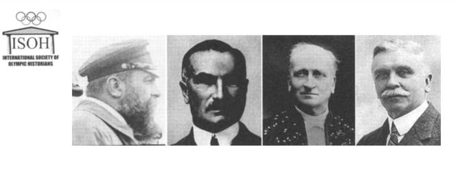 Négy versenyző, balról jobbra: René de Knyff, Selwyn Edge, Louis Renault és báró Adrien de Turckheim