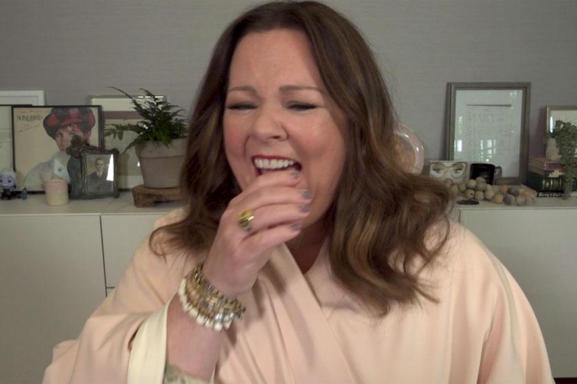 Melissa McCarthy nem bírta ki nevetés nélkül.