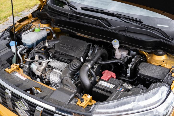 A Suzuki lágy hibridben van rendes indítómotor, de a start-stoppért az ISG indítómotor-generátor felel
