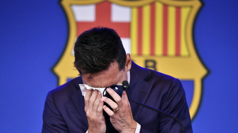 Lionel Messi zokogva búcsúzott el a Barcelonától
