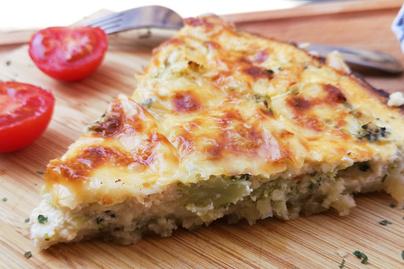 Mennyei brokkolis-krémsajtos pite - A tészta omlós, a töltelék krémes