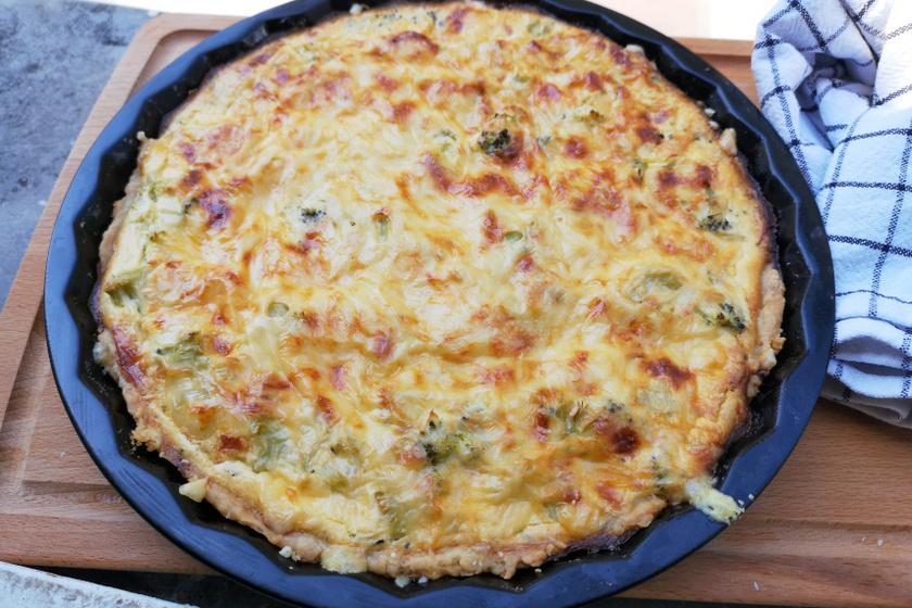 brokkolis pite recept