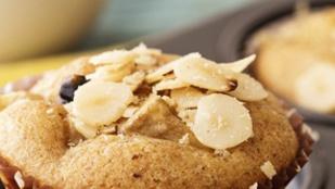 Mini almás-mandulás sütik rumos mazsolával
