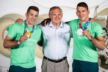 A Lőrincz fivérek edzőjükkel