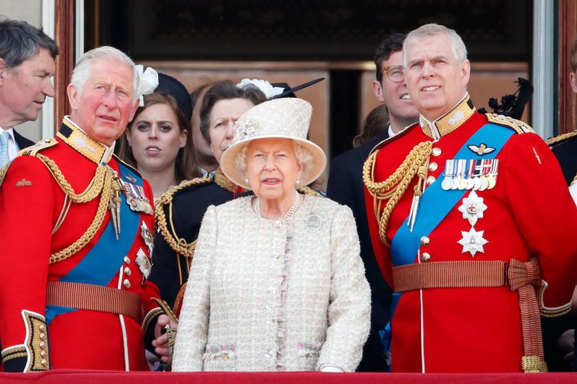 károly herceg erzsébet királynő és andrás herceg