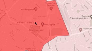 Elszakadt egy gázvezeték a Csörsz utcában