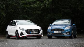 Összehasonlító: Ford Fiesta ST vs. Hyundai i20 N - 2021.