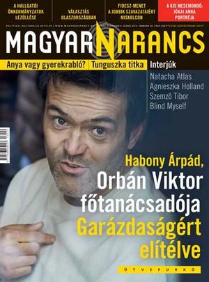 A Magyar Narancs aktuális címlapja